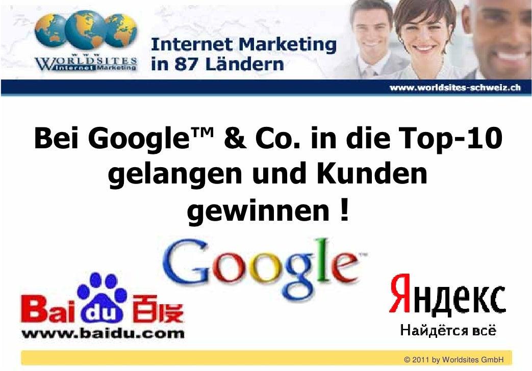 Bei Google™ & Co. in die Top-10 gelangen und Kunden gewinnen !