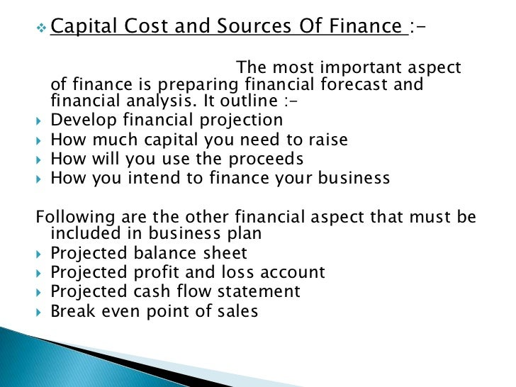 Business plan for finance company