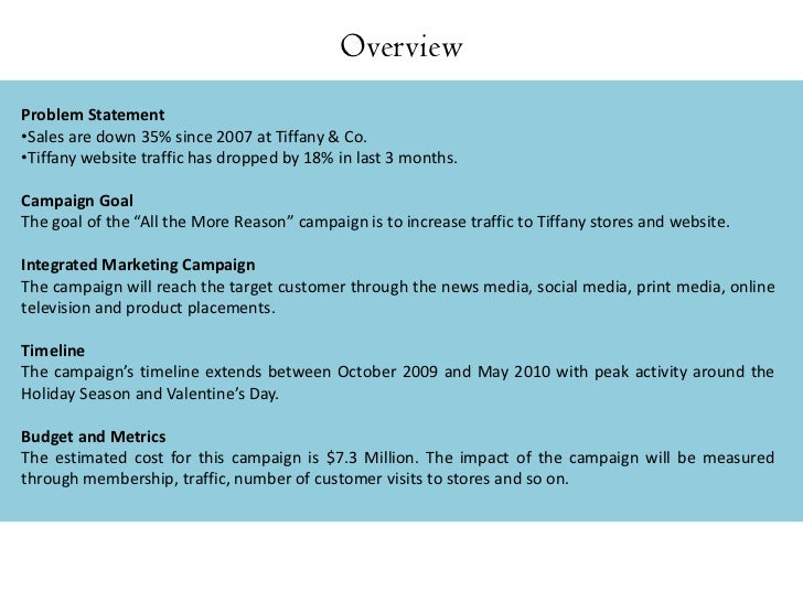marketing of tiffany As the luxury market begins its foray into cyberspace, social media, and online  marketing, how has tiffany & co maintained its high standards.