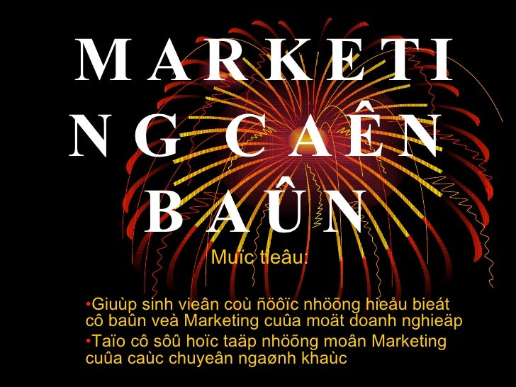 Marketing can ban