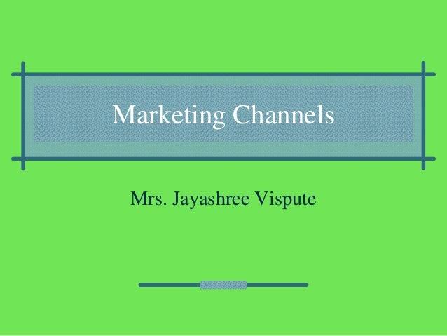 Marketing channels21111
