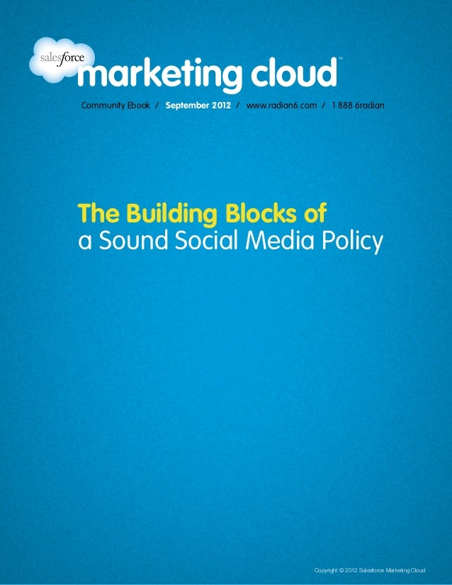 The Building Blocks of a Sound Social Media Policy