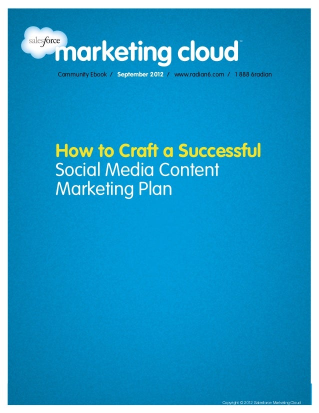 Community Ebook / September 2012                                                              How to Craft a Successful So...