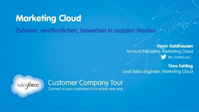 Marketing Cloud - Zuhören, veröffentlichen und werben in sozialen Netzwerken