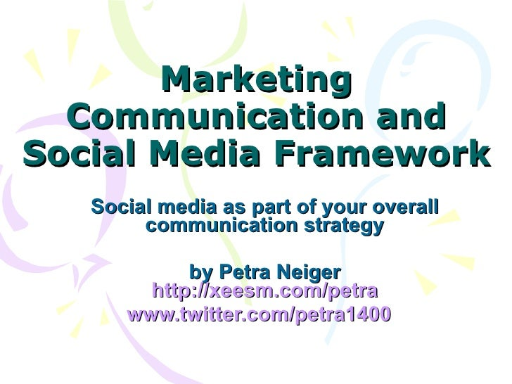 Framework: Social Media in Support of Overall Marketing Communications