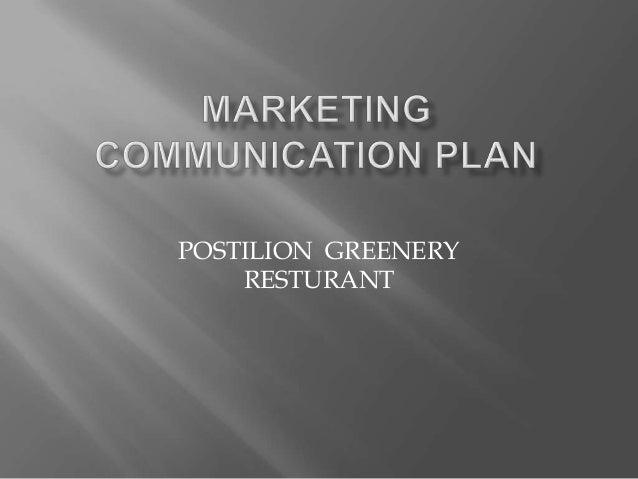 Marketing communication plan presentation