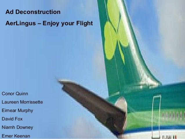 Aer Lingus advertisement deconstuction