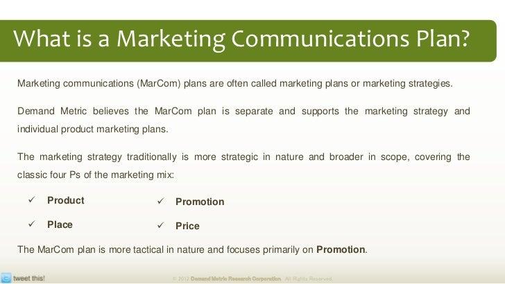 marketing communication plan template example