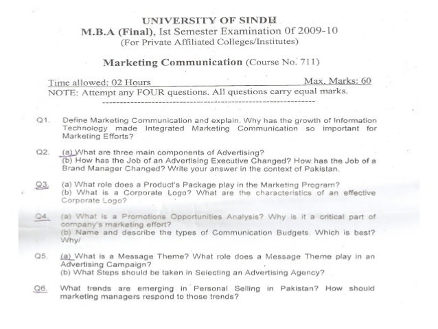 Papers of marketing