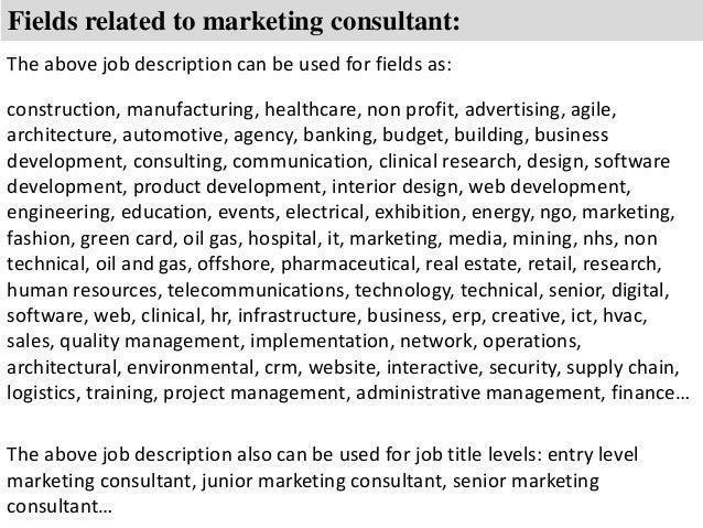 Business marketing consultant job description