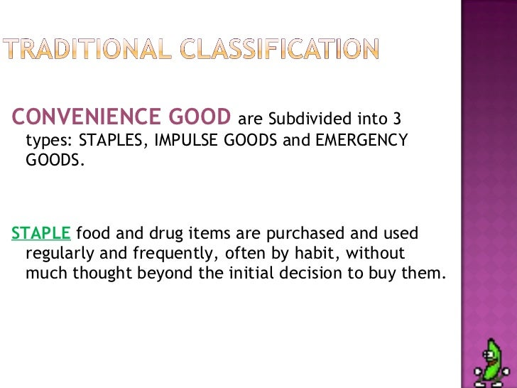 Comparison Goods And Convenience Goods Convenience Good Are