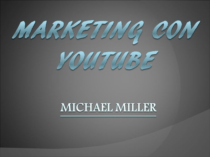 Marketing con youtube