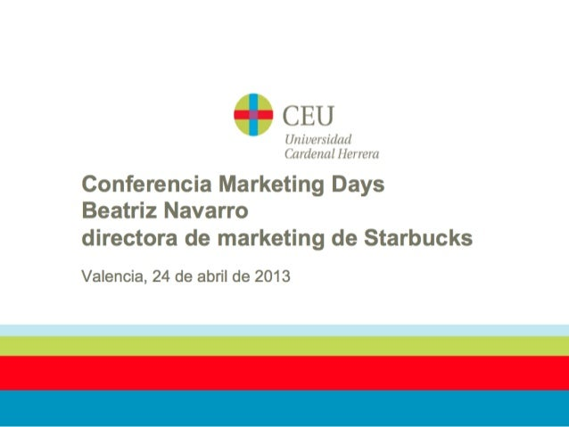 Marketing days con Starbucks en la  Universidad CEU-UCH Valencia