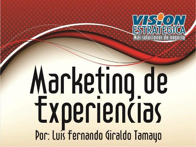 Por: LUIS FERNANDO GIRALDO TAMAYO Consultor y Asesor Empresarial Aspirante a Magister en Mercadeo Docente Universitario lu...