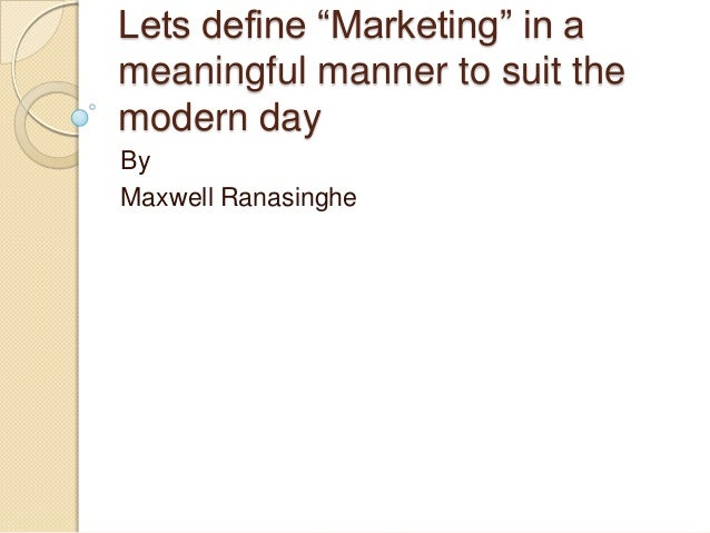 Definition of Sustainable Marketing