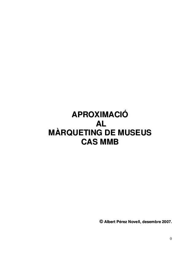 Marketing de museos estudio de caso museo maritimo de barcelona