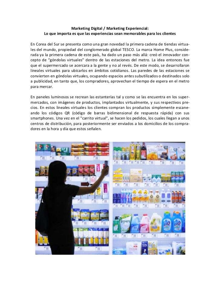 Marketing Digital / Marketing Experiencial