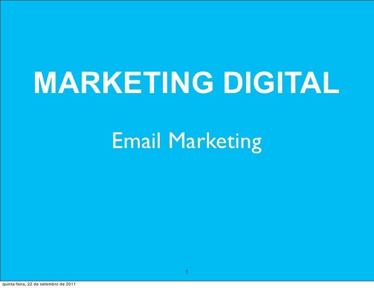 MARKETING DIGITAL                                       Email Marketing                                              1quin...