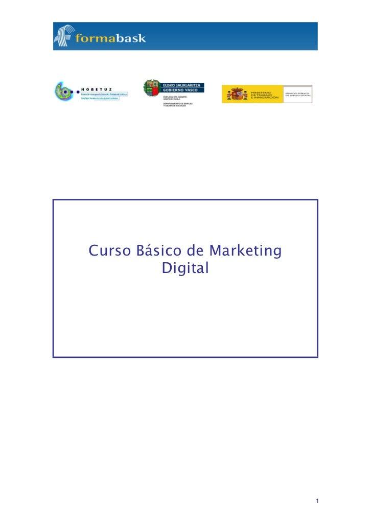Curso Básico de Marketing         Digital                            1