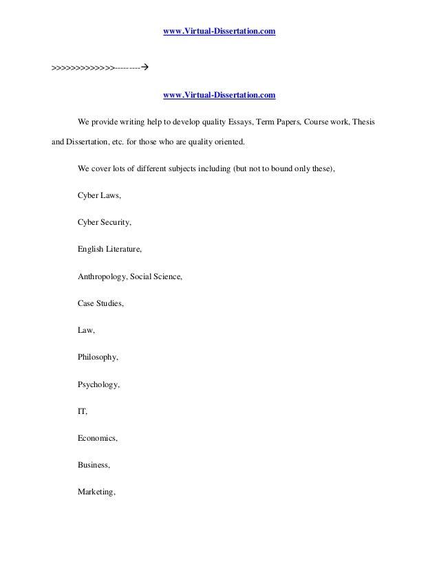 Dissertation francais structure