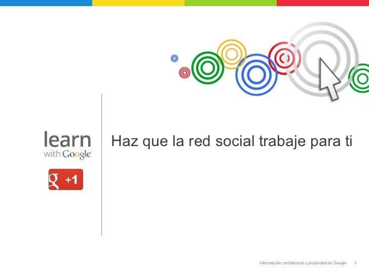 Como Funciona Google Plus - Marketing en Redes Sociales