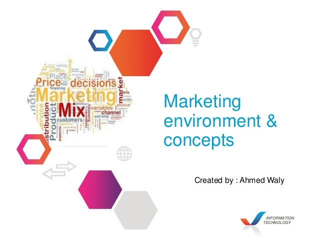 INFORMATION TECHNOLOGY Marketing environment & concepts Created by : Ahmed Waly