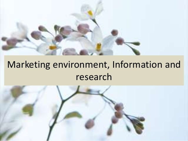 Marketing environment, Information and research