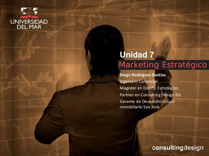 Marketing estrategico unidad 7