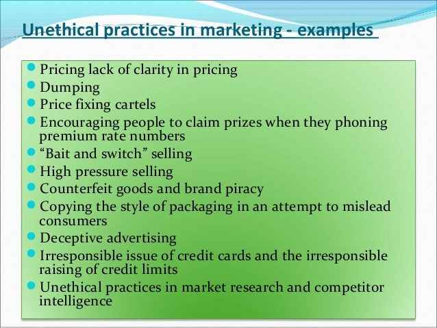 unethical business practice a case study of Top 10 unethical business actions however this case pinpoints wal-mart's often this whole practice was extremely unethical in terms of the.