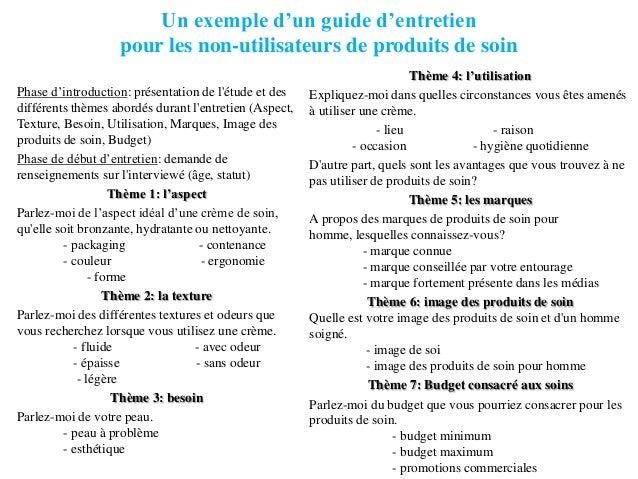 exemple de guide d entretien qualitatif marketing