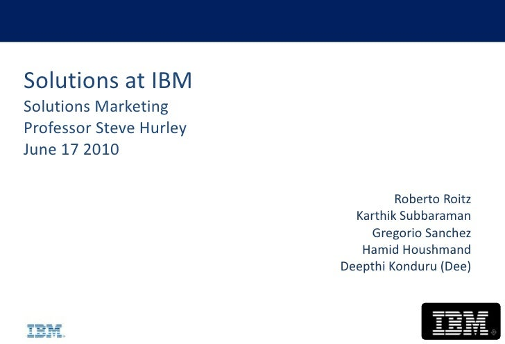 Solutions Marketing at IBM - an observation