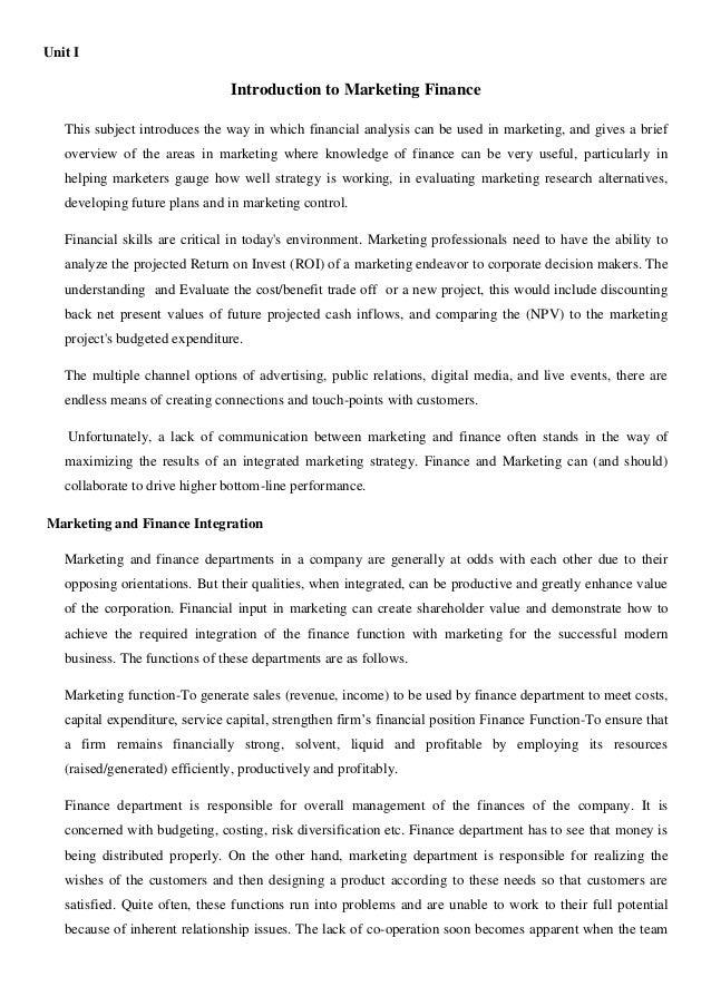 Marketing finance[1]