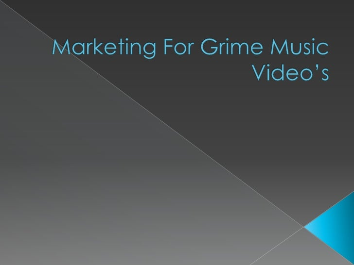 Marketing For Grime Music Video's<br />