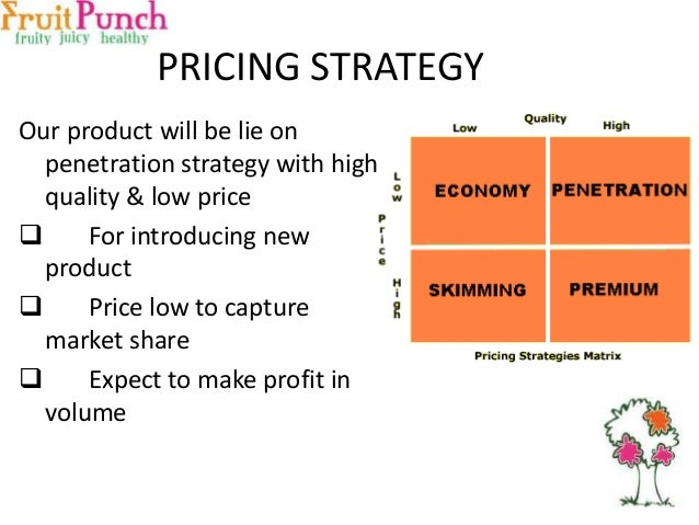 how the pricing strategy of a product can Implementing a good pricing strategy for your company's products can help you find the right price point to maximize your business profits while setting your prices, you'll want to consider a broad range of different factors, including the cost to produce and distribute your items, what products your competitors have on offer, ways to position your product effectively and your company's.