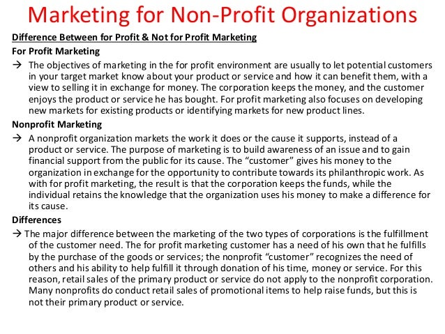 resume objective non profit organization - Objectives For Marketing Resume