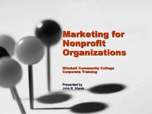 Marketing For Nonprofits Workshop