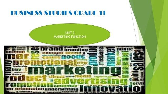 Marketing function