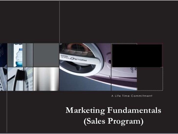 Marketing Fundamentals   (Sales Program)