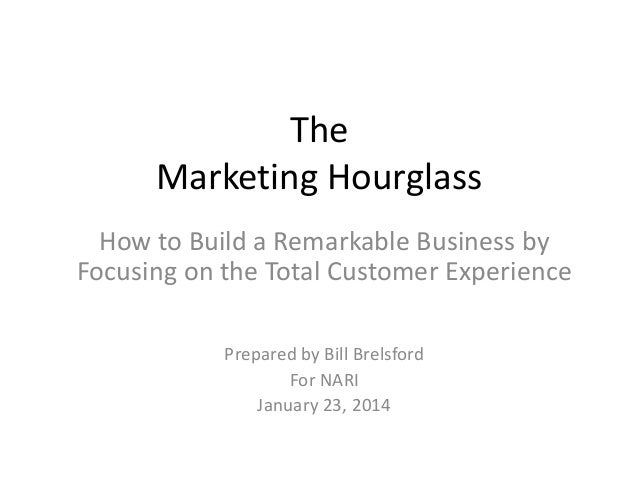 The Marketing Hourglass How to Build a Remarkable Business by Focusing on the Total Customer Experience Prepared by Bill B...