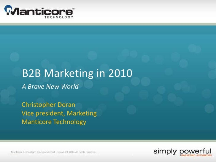 B2B Marketing in 2010