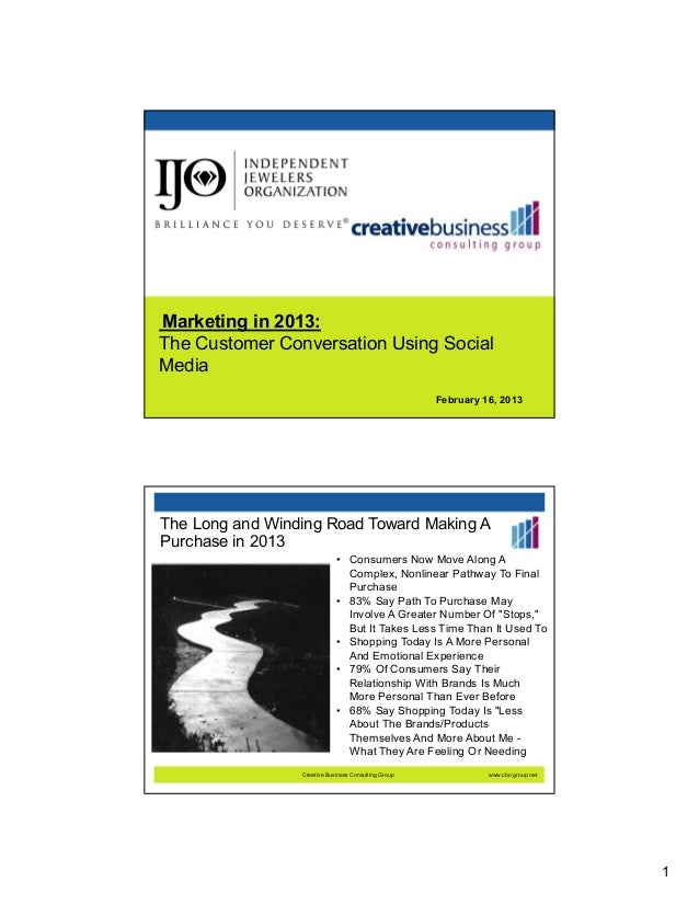 Marketing in 2013 customer conversations using social media  slideshare version [compatibility mode]