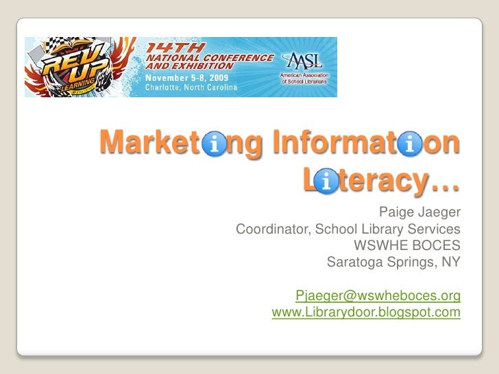 Marketing Information AASL 2009