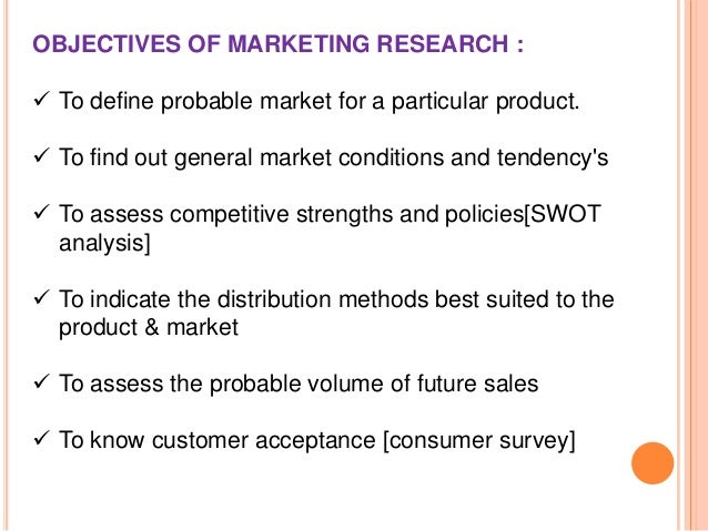 objective of market research The purpose of market research is a marketing program is a comprehensive and detailed blueprint used in business to attain objectives, including market research.