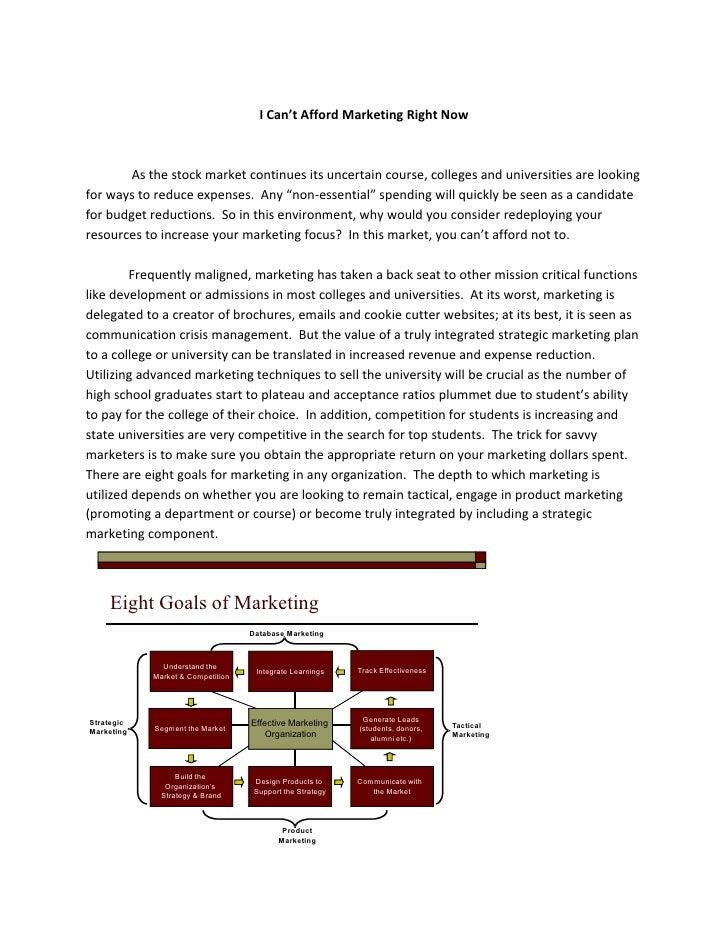 Marketing In Higher Ed Final