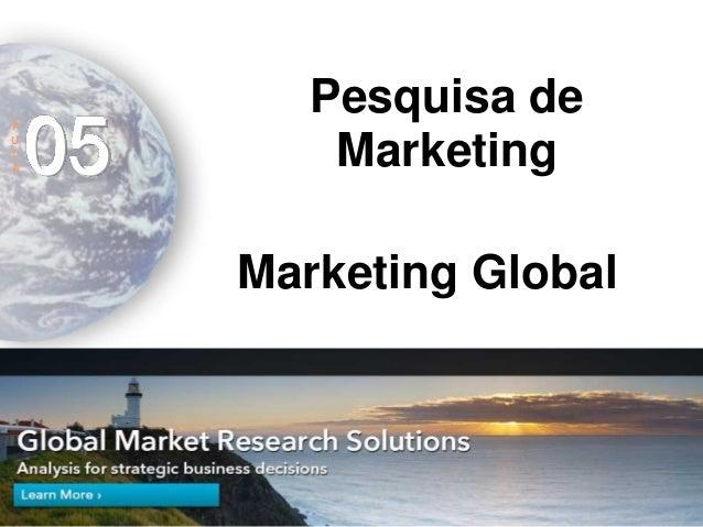 Marketing internacional - Aula 5 - Pesquisa de Marketing