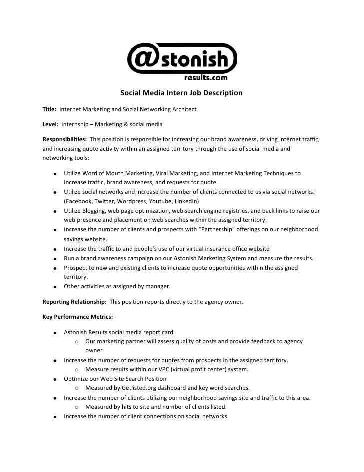 Marketing Assistant Job Description – Job Description Marketing Assistant