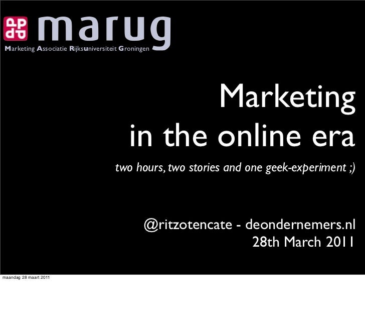 Marketing in the online era MARUG guest lecture
