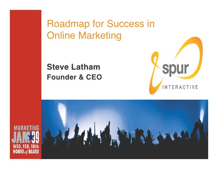 Roadmap for Success in Online Marketing   Steve Latham Founder & CEO