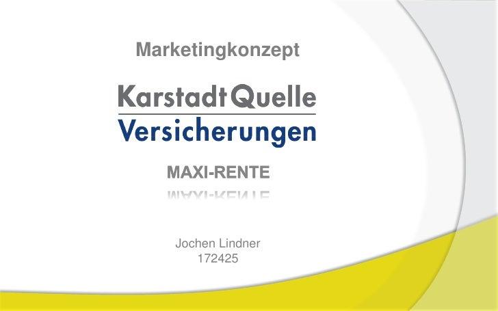 Marketingkonzept        Jochen Lindner       172425
