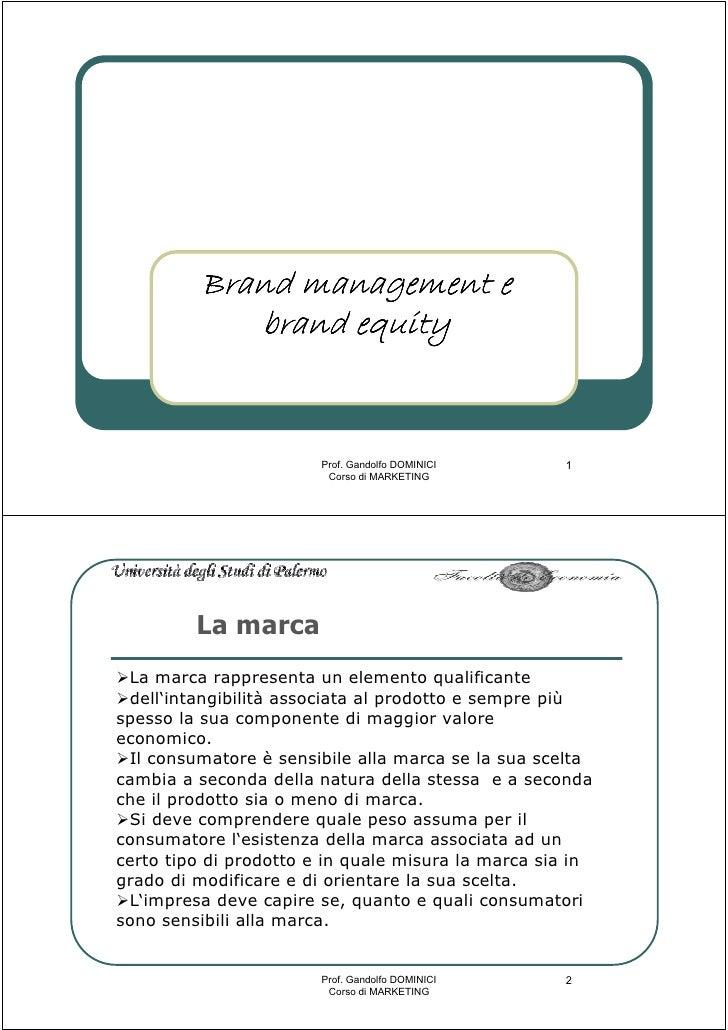 Brand management e             brand equity                                                       1                       ...